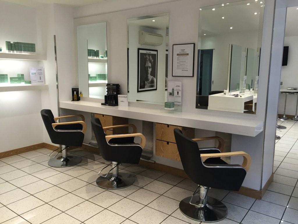 Intérieur salon de coiffure Ajaccio