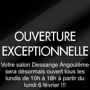 Ouverture Exceptionnelle Dessange Angoulême