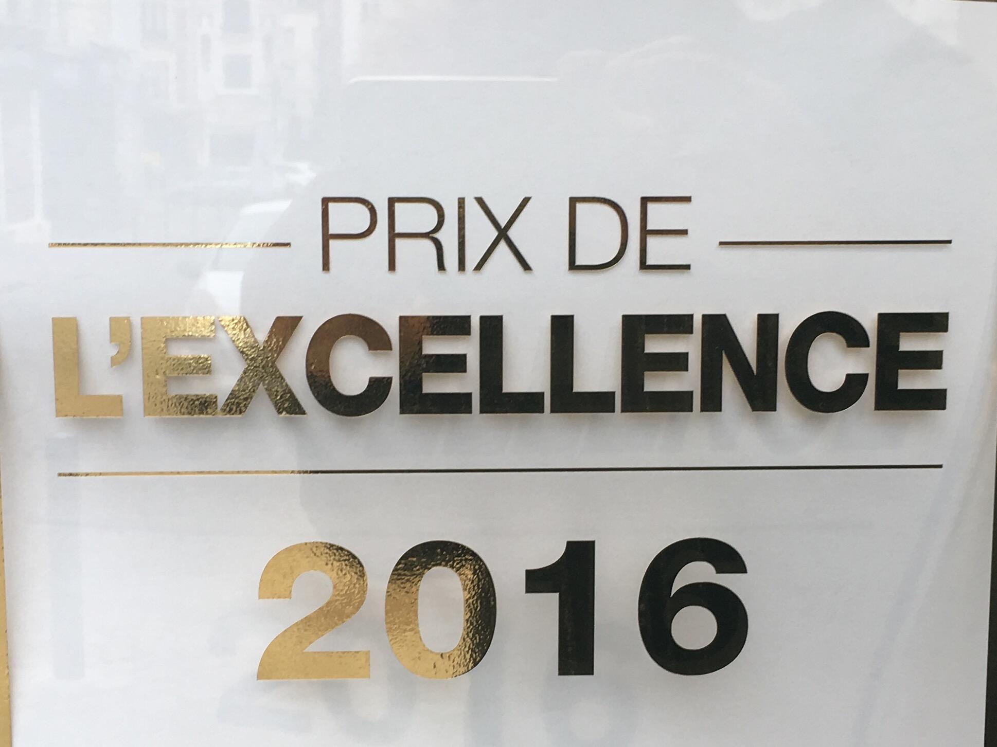 Prix de l'excellence 2016 salon de coiffure Dessange Arras