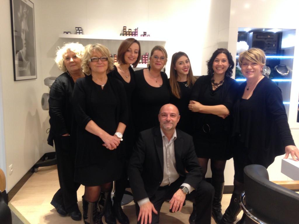 L'équipe du salon de coiffure Dessange Nevers