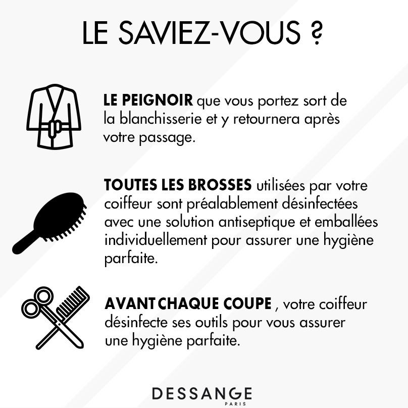 Mesures sanitaires Dessange Orléans
