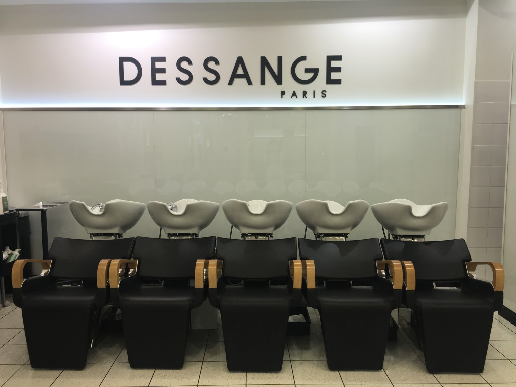 Les bacs à shampooing - Dessange Paris Bastille