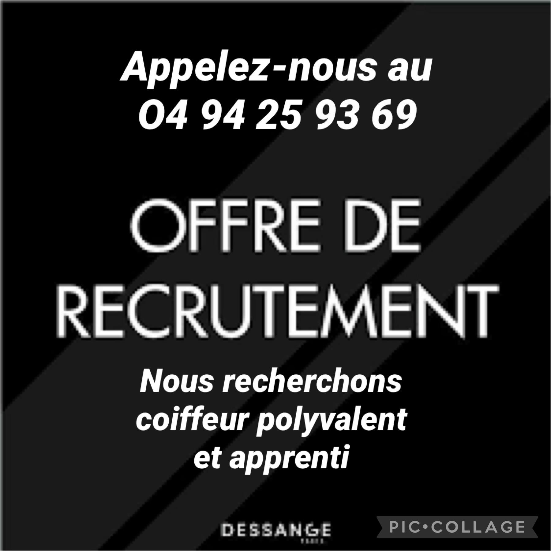 Recrutement Dessange Sanary 2021
